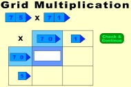 Multiplication using the Grid Method