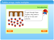 Pobble arrays: make multiples (FUSE Learning Resource ID: 6JA89F)
