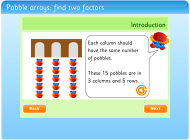 Pobble arrays: find two factors (FUSE Learning Resource ID: C7Y8P6)
