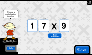 The multiplier: generate easy multiplications (FUSE Learning Resource ID: A9RE4Y)