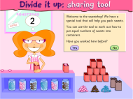 Divide it up: sharing tool (FUSE Learning Resource ID: WSE9VG)