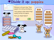 Divide it up: puppies (FUSE Learning Resource ID: BWJQ77)