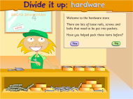 Divide it up: hardware (FUSE Learning Resource ID: RRE3Y5)