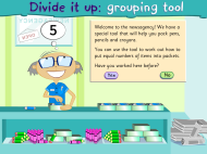 Divide it up: grouping tool (FUSE Learning Resource ID: 9977SM)