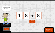 The Part-adder: generate easy sums (FUSE Learning Resource ID: 92KBQ9)
