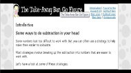 The take-away bar: go figure (FUSE Learning Resource ID: GA65NK)